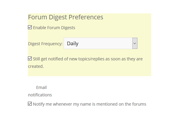 Enable Forum Digest Email Notifications